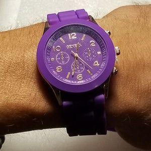 Geneva Silicone Band Quartz Jelly Wrist Watch.